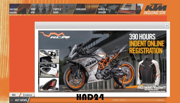 Inden online KTM RC390