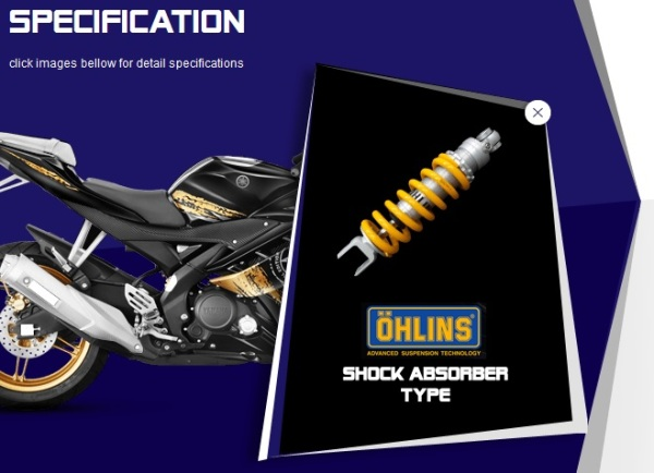 R15 Ohlins shockbreaker