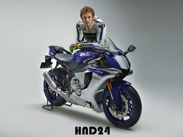 Valentino Rossi with 2015 YZF-R1