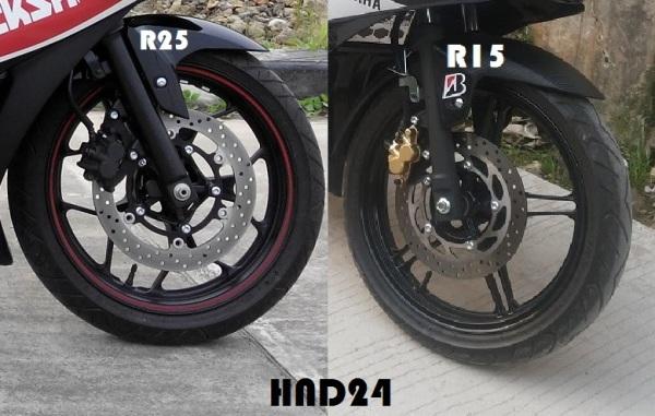 Cakram R25 vs R15