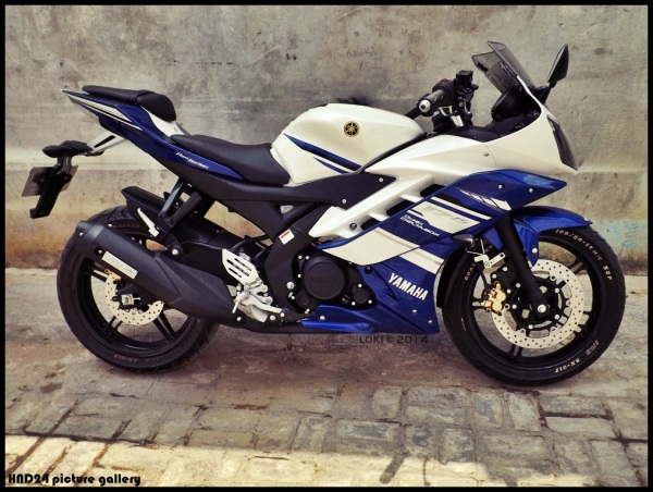 YZF-R15 with R25 disc brake (2)