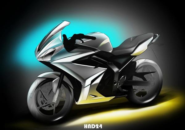 Triumph 250 sketch