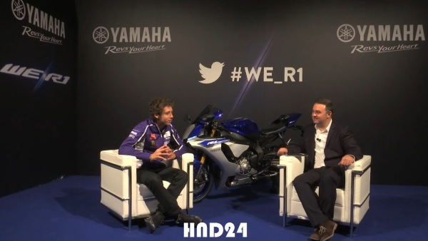 We R1 live chat with Valentino Rossi
