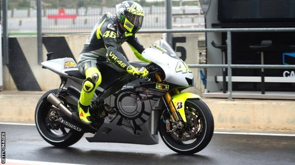 YZR-M1 VR46 winter test