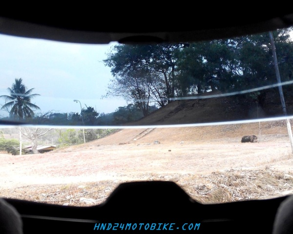 KYT C5 with dark visor view