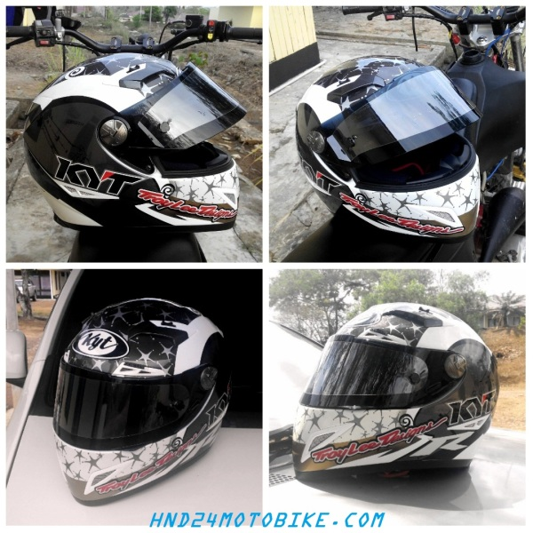 KYT C5 with dark visor + tear off