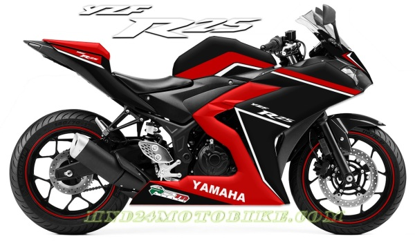 Yamaha R25 Black Red