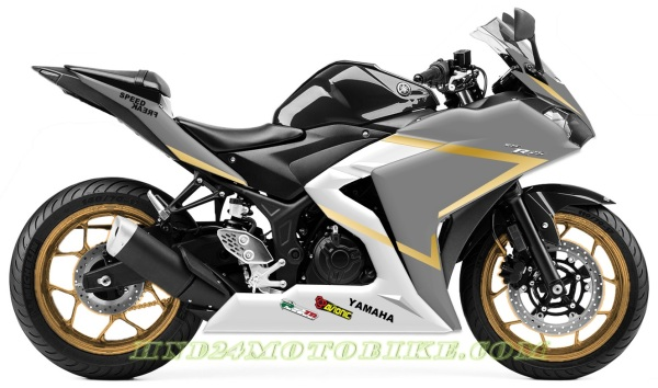 Yamaha R25 Gold Grey matte