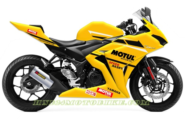 Yamaha R25 Motul yellow